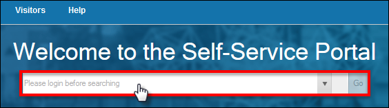 Self Service Portal Search